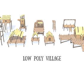 3D model Low Poly Village