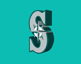 Seattle Mariners Team Logo 3D