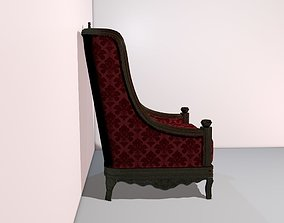 British Colonial Style Club Chair 3D model