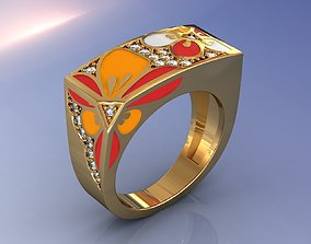 3D printable model Luxury Brand Enamel Ring
