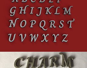 CHARM uppercase and lowercase 3D Letters STL FILE