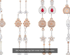 266 Women earrings 3dm render detail