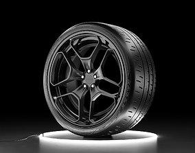 3D model Car wheel Bridgestone Eagle F1 SuperCar 3R with 3