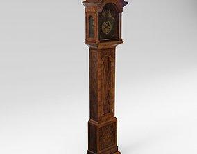 3D Baroque long case clock - England - London architectural