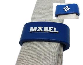 3D printable model MABEL napkin ring with lauburu