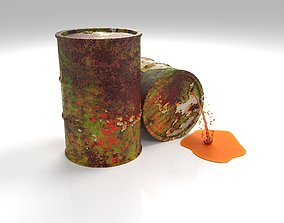 low Oil barrel 3D