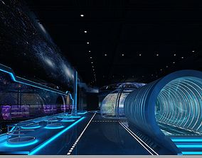 Exhibition hall 3d model Science and Technology