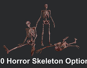 10 Bloody Horror Skeletons 3D asset