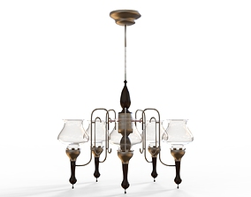 3D architectural classic chandelier
