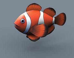clown fish 3D model realtime