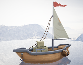 3D asset Sailboat Hand-Painted