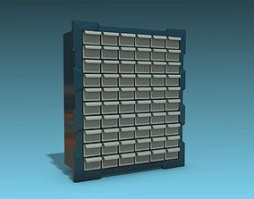 3D model Storage Cabinet Drawers 02
