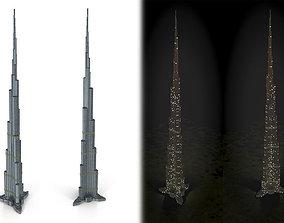 Burj Khalifa 3D model VR / AR ready