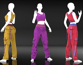 Women Loose Stage Wear - Marvelous Designer Cloth 3D model