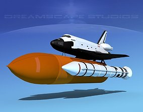 STS Shuttle Atlantis Launch MP 2-1 3D model