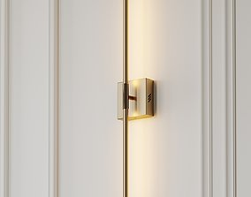 Gallatin Dimmable Gold and Silver Wall Sconce by Orren 3D