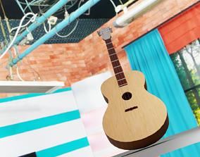 stringed-instrument guitar 3D asset