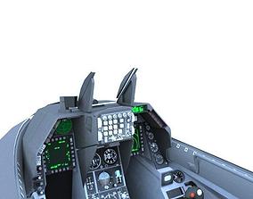 F-16C Cockpit 3D asset