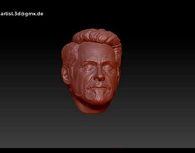head 3D printable model Tony Stark - Iron Man