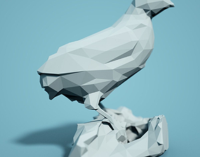 zoology print Low Poly Bird Model