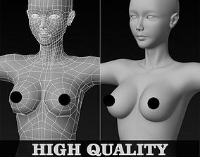mesh 3D asset low-poly Female Base Mesh