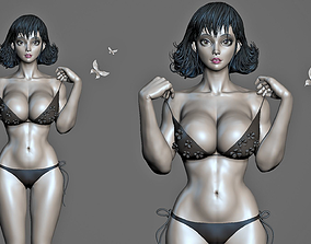 3D asset Asian Female body Mesh ZBrush