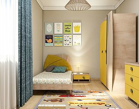 architectural 3D model childrens room