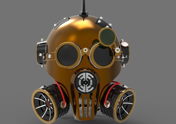 Steam Punk Head Helmet