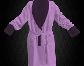 3D asset Victoria Secret Bathrobe Pink