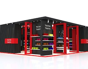 Exhibition Stand 8x10m Height 360 cm 2 Side 3D model