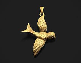 Flying Bird Pendant 3D printable model