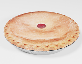 Game Ready Cherry Pie 3D asset realtime