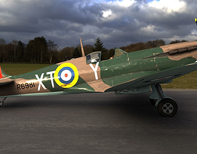 3D model SUPERMARINE SPITFIRE MK IA 603rd Squadron