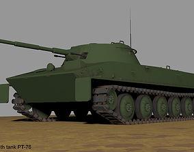 Soviet floating ligth tank PT-76 3D model