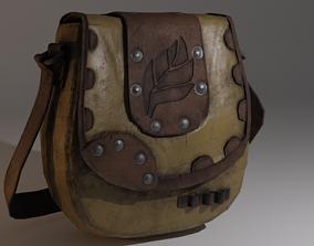 Alchemists leather bag 3D asset