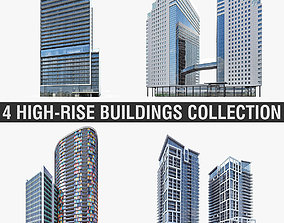 3D model High-rise Buildings Collection 01