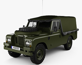 Land Rover Series III LWB Military FFR with HQ 3D model 1
