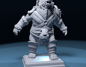 3D print model Polar bear warrior