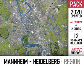 3D model Mannheim Heidelberg