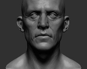 Realistic Male Head 3D