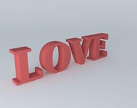 3D model escultura LOVE LOVE sculpture
