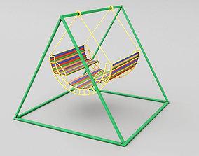 Childrens Swing Symmetry 3D asset