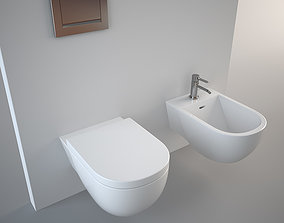 3D model Antonio Lupi Sella Bidet and Toilet