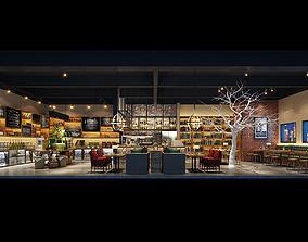 Model of Cafe and Bar 3D asset