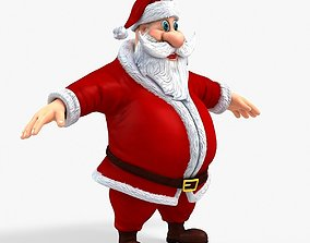 New cool Santa Claus with a big beautiful 3D model