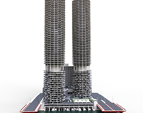 Marina city Chicago 3D model