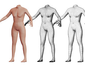 Character 27 High and Low-poly - Body male 3D model
