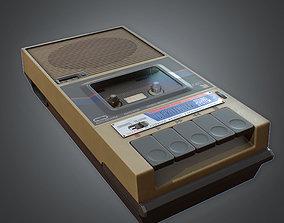 3D asset Tape Recorder 80s