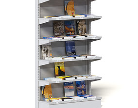 Market Shelf 3D Model - Magazines