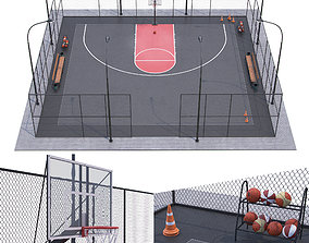 Basketball field 3D model